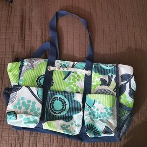Thirty-One Zip Top Utility Tote
